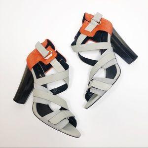 L.A.M.B. Korry Genuine Calf Hair Heel Sandal